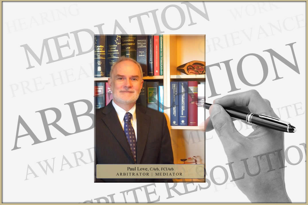 Paul Love Arbitrator Mediator Home Page Image